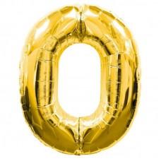 0 Rakam Folyo Balon 16 İnç Altın