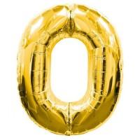 0 Rakam Folyo Balon 40 İnç Altın