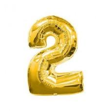 2 Rakam Folyo Balon 16 İnç Altın