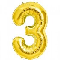 3 Rakam Folyo Balon 40 İnç Altın