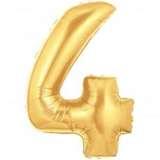 4 Rakam Folyo Balon 40 İnç Altın