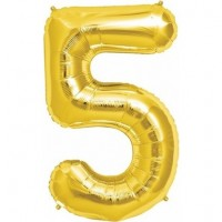 5 Rakam Folyo Balon 40 İnç Altın