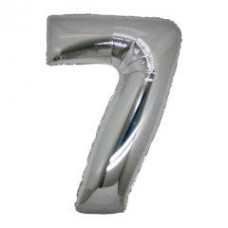 7 Rakam Folyo Balon 32 İnç Gümüş