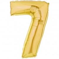 7 Rakam Folyo Balon 40 İnç Altın