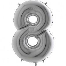 8 Rakam Folyo Balon 32 İnç Gümüş