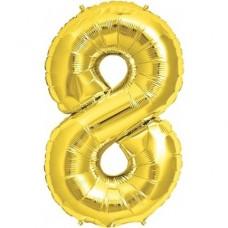 8 Rakam Folyo Balon 40 İnç Altın