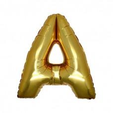 A Harfi Folyo Balon 32 İnç Altın