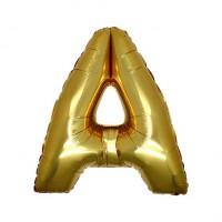 A Harfi Folyo Balon 40 İnç Altın
