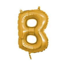 B Harfi Folyo Balon 16 İnç Altın