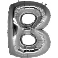 B Harfi Folyo Balon 16 İnç Gümüş