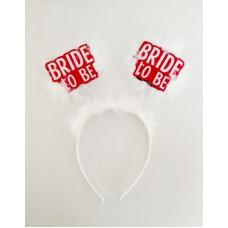 Bride To Be Beyaz Tüylü Taç