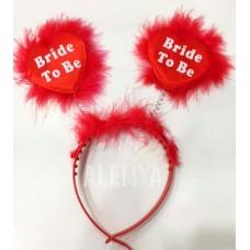 Bride To Be Taç Bekarlığa Veda Partisi Tacı Kırmızı