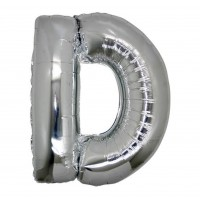 D Harfi Folyo Balon 16 İnç Gümüş