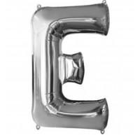 E Harfi Folyo Balon 40 İnç Gümüş