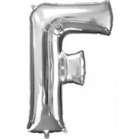 F Harfi Folyo Balon 40 İnç Gümüş