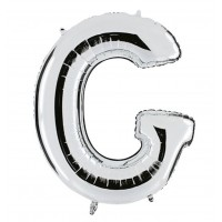G Harfi Folyo Balon 16 İnç Gümüş