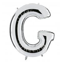 G Harfi Folyo Balon 40 İnç Gümüş