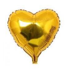 Kalp Folyo Balon Altın 18 İnç 45 Cm