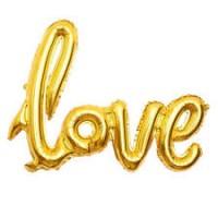Love Folyo Balon Altın