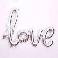 Love Folyo Balon Gümüş