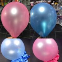 Pembe Ve Mavi Metalik Balon  20 Adet