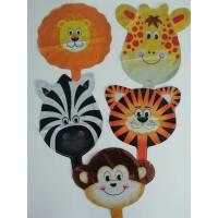 Safari Hayvanlar Folyo Balon 5 Adet