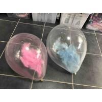 Şeffaf Balon Tüylü Pembe Veya Mavi