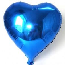 Kalp Folyo Balon Mavi