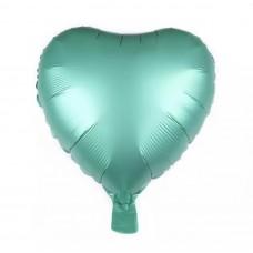 Kalp Folyo Balon Mint Yeşili