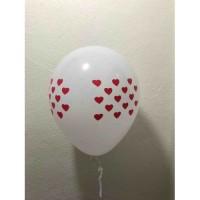 Beyaz Kalpli balon 12 inç 5 adet