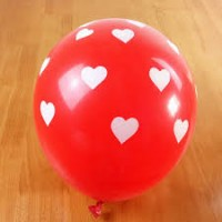 kırmızı kalpli balon 12 inç 5 adet