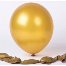 Metalik Altın balon 12 inç 5 adet
