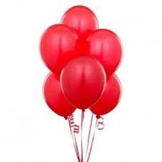 Metalik kırmızı balon 12 inç 5 adet