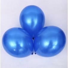 Metalik mavi balon 12 inç 5 adet