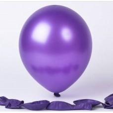 Metalik mor balon 12 inç 5 adet
