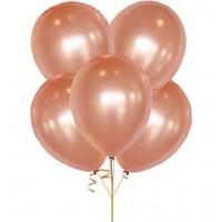 Metalik rose balon 12 inç 5 adet