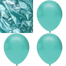 Metalik su yeşili balon 12 inç 5 adet