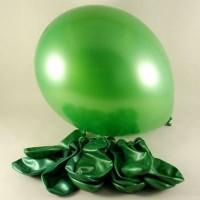 Metalik yeşil balon 12 inç 5 adet