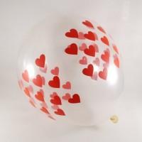 Şeffaf kalpli balon 12 inç 5 adet