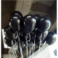 siyah balon 12 inç 5 adet