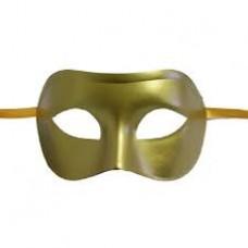 Gold Plastik Maske