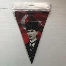 Atatürk Resimli 10 Lu Flama
