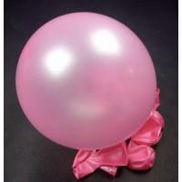 Metalik Açık Pembe Balon 12 inç 100 Adet