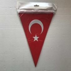 Türk Bayrağı Üçgen Flama 10 Lu