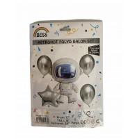 Uzay Set Astronot Folyo Balon 5'li 12inç 18 inç 24 inç